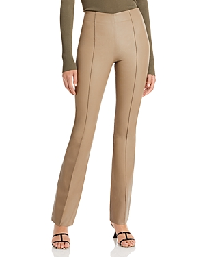 Remain Floral Leather High Rise Pants