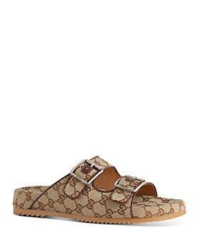 Gucci - Men's Sideline GG Canvas Slide Sandals