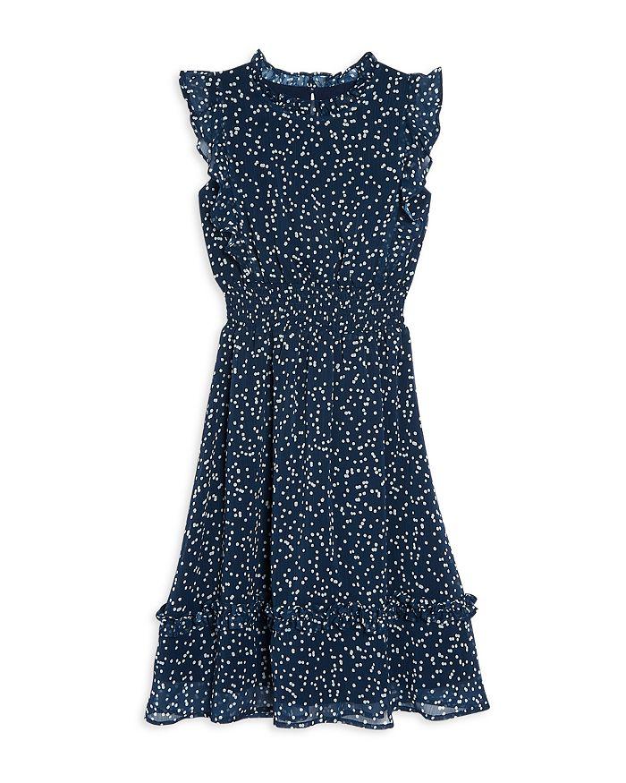 AQUA - Girls' Dot Print Midi Dress, Big Kid - 100% Exclusive