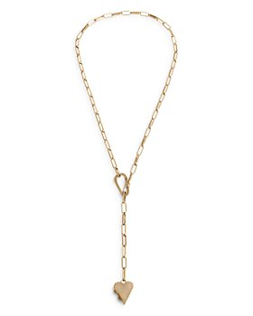 """ALLSAINTS - Heart Locket Y Necklace, 24"""""""