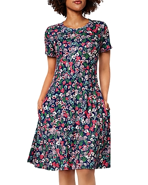 Maci Floral Print Fit And Flare Dress