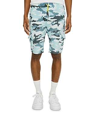 Eleven Paris Knit Camo Regular Fit Cargo Shorts