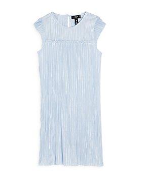AQUA - Girls' Plisse Metallic Dress, Big Kid - 100% Exclusive