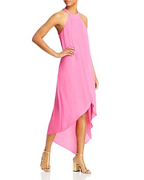 BCBGMAXAZRIA - Asymmetric Woven Midi Dress - 100% Exclusive