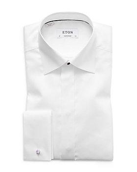 Eton - Contemporary Fit Diamond Weave Tuxedo Shirt