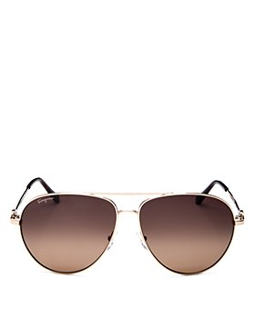 Salvatore Ferragamo - Men's Timeless Collection Brow Bar Aviator Sunglasses, 61mm
