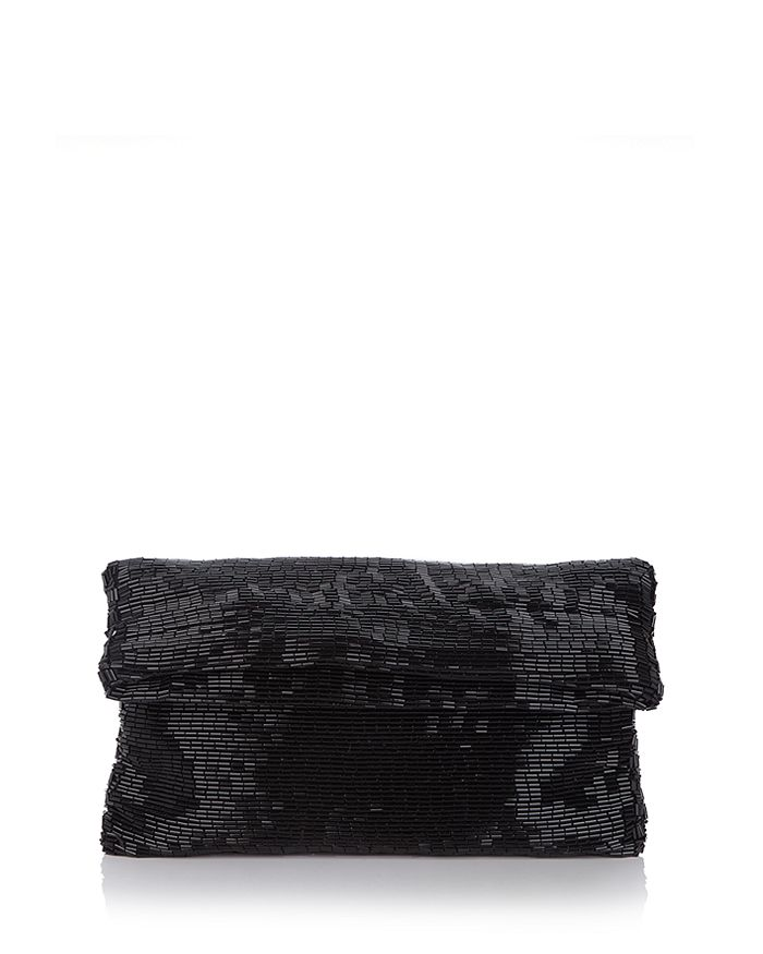 Sondra Roberts - Bugle Beaded Fold-Over Clutch
