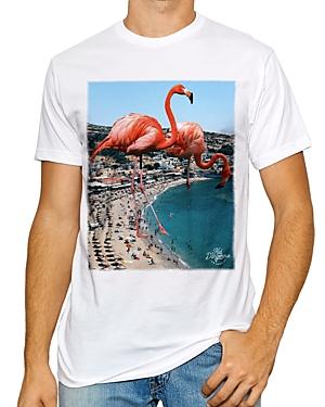 Flamingo Coast Cotton Blend Premium Heathered Graphic Tee