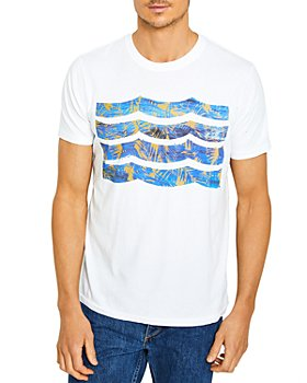 SOL ANGELES - Cobalt Floral Waves Graphic Tee