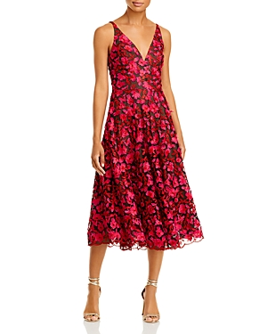 Elisa Embroidered Fit and Flare Dress