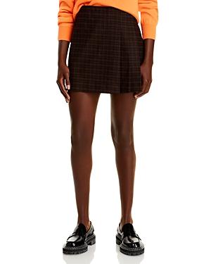 Alice and Olivia Semira Pleated Plaid Mini Skirt