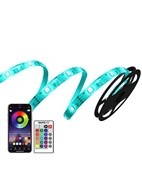 Tzumi - Aura LED Color Strip Lights, 6.5'