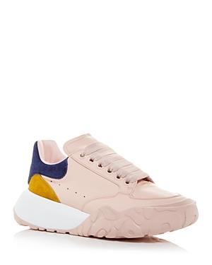 Alexander McQUEEN Women's Oversized Color Block Suede Heel Detail Sneakers