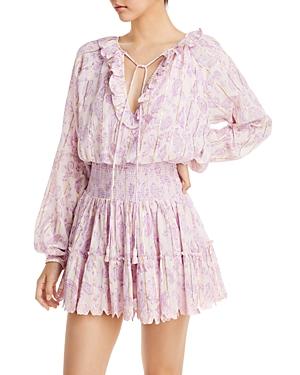 Tiered Eyelet Mini Dress