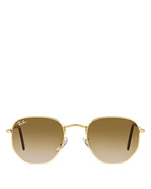 Ray Ban Ray-ban Unisex Irregular Sunglasses, 54mm In Gold/brown