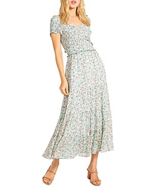 Joie de Vivre Floral Smocked Midi Dress