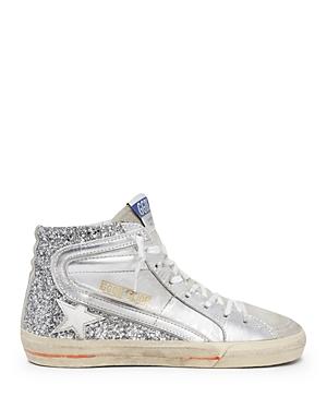 Golden Goose Deluxe Brand Women's Slide Glitter High Top Sneakers