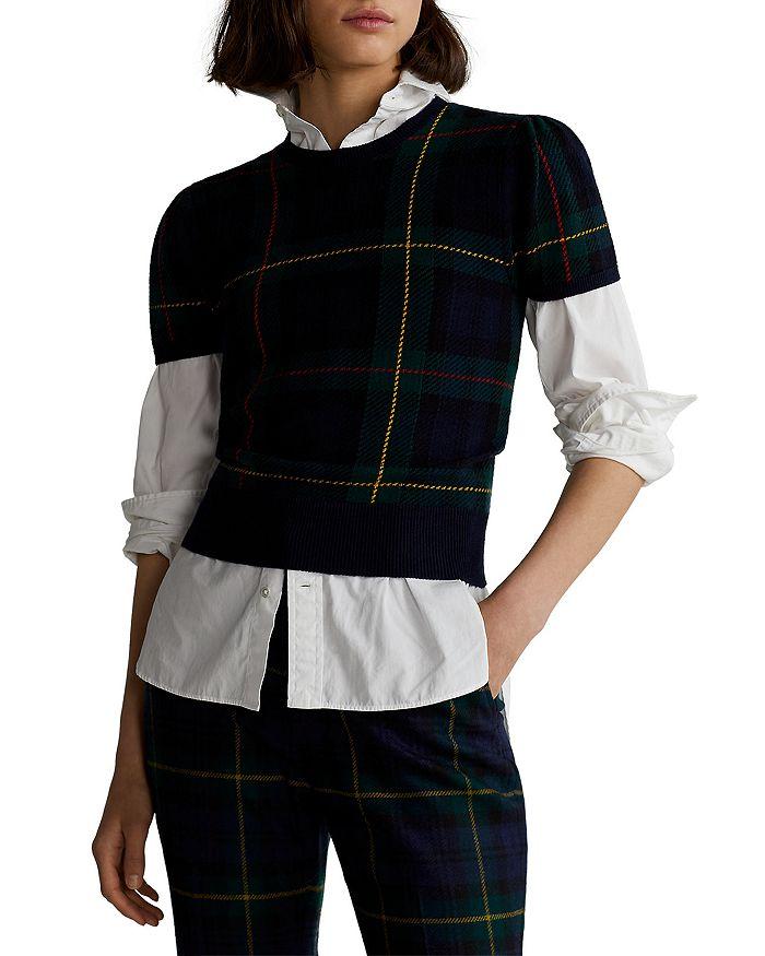 Ralph Lauren - Plaid Short-Sleeve Sweater