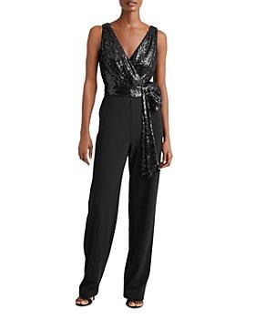 Ralph Lauren - Sequined Tie Waist Jumpsuit