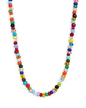 """AQUA - Multicolor Beaded Necklace, 16"""" - 100% Exclusive"""