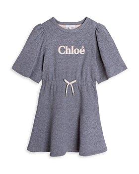 Chloé - Girls' Cotton Fleece Logo Dress - Little Kid, Big Kid