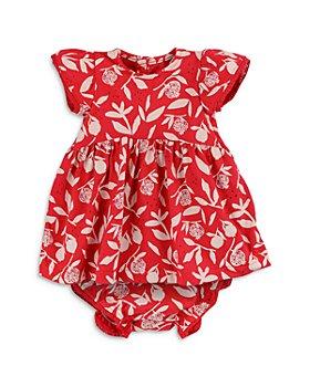 Oliver & Rain - Girls' Organic Cotton Pomegranate Dress & Bloomers Set - Baby