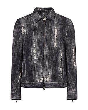 Distressed Zip Front Jacket