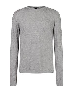 Lightweight Textured Crewneck Sweater