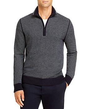 Vince - Birdseye Quarter Zip Sweater