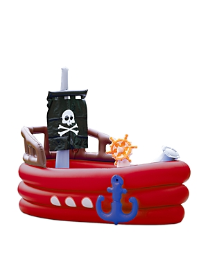 Teamson Water Fun Inflatable Pirate Boat with Sprinkler Play Center - Ages 3+