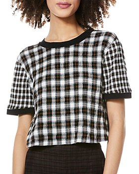 Alice and Olivia - Piera Cropped Tee