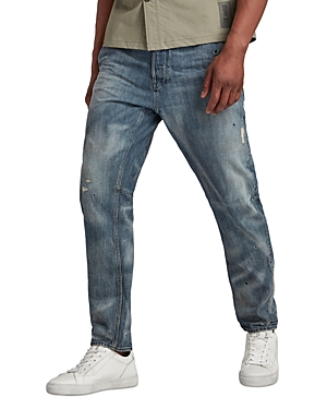 Grip 3D Relaxed Tapered Jeans in Faded Bay Burn Destroyed