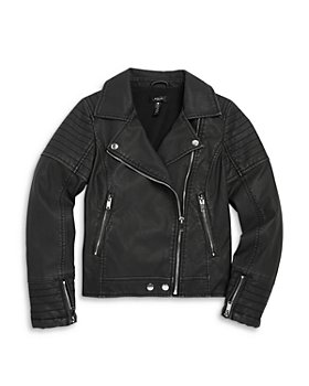 AQUA - Girls' Faux Leather Moto Jacket, Big Kid - 100% Exclusive