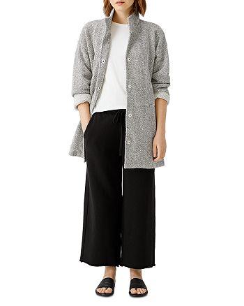 Eileen Fisher Petites - Stand Collar Cotton Jacket