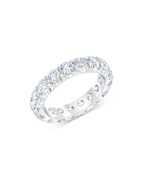 Bloomingdale's - Diamond Eternity Band in 14K White Gold, 5.0 ct. t.w. - 100% Exclusive