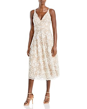 Dress the Population - Elisa Embroidered Fit and Flare Dress