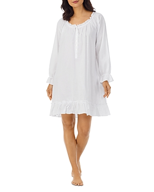 Ruffled Short Cotton Nightgown