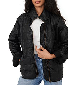 Free People - Quilted Vegan Leather Jacket
