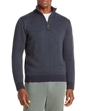 Plaited Half Zip Mock Collar Sweater