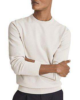 REISS - Perry Cotton Textured Regular Fit Crewneck Sweater