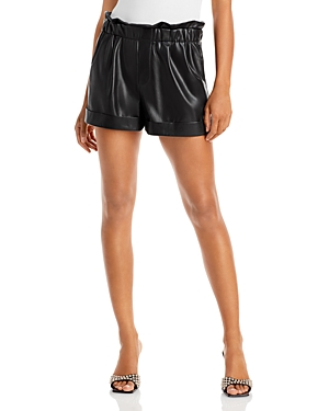 Reagan Faux Leather Shorts
