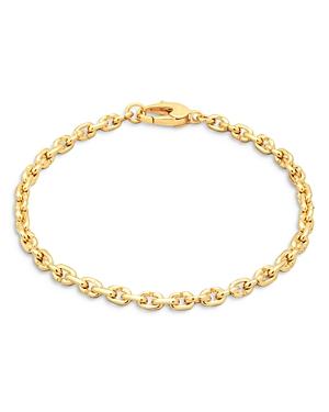 14K Gold Plated Sterling Silver Hand Link Bracelet