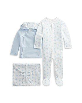 Ralph Lauren - Unisex Cotton Hooded Jacket, Footie & Envelope Bag Set - Baby