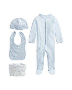 Ralph Lauren - Unisex Cotton Footie, Beanie, Bib & Bag Set - Baby