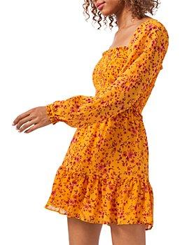 1.STATE - Smocked Printed Dress