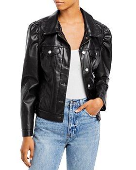 AQUA - Faux Leather Puff Sleeve Jacket - 100% Exclusive