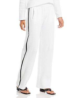 Norma Kamali Waffle Knit Track Pants