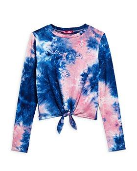 AQUA - Girls' Tie Front Tie Dye Top, Big Kid - 100% Exclusive