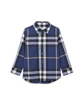 Burberry - Boys' Owen Check Stretch Cotton Shirt - Little Kid, Big Kid