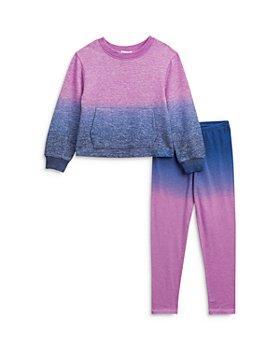 Splendid - Girls' Hacci Dip Dye Top & Leggings Set  - Little Kid
